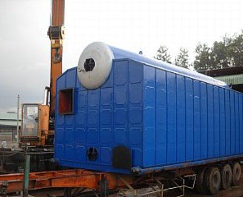 Lò hơi được chế tạo lắp đặt  cho nhà máy Bia - Campuchia công suất làm việc 10 tấn hơi/giờ